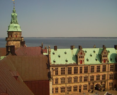Von der Kronborg - Blick über den Sund
