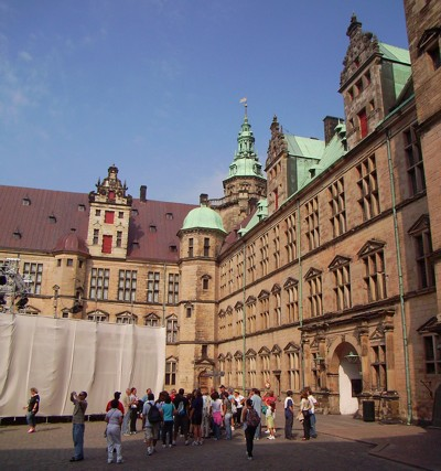 Innenhof des Schloss Kronborg