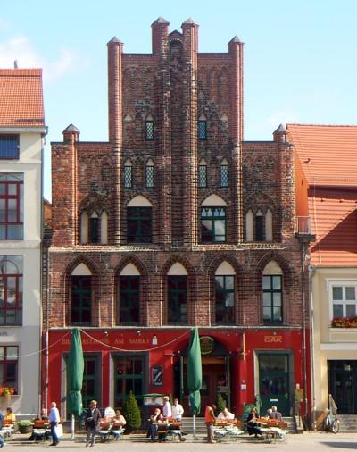Giebelhäuser in Greifswald