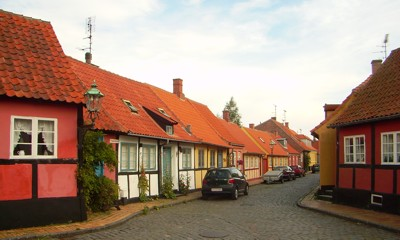 kleine Fachwerkhäuser in Rønne