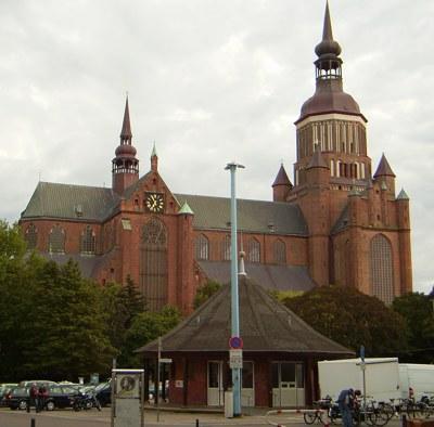 Stralsund Neuer Markt / St.-Marien-Kirche