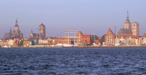 Stralsund vom Wasser aus