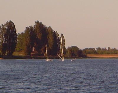 Segelschiff auf Grund
