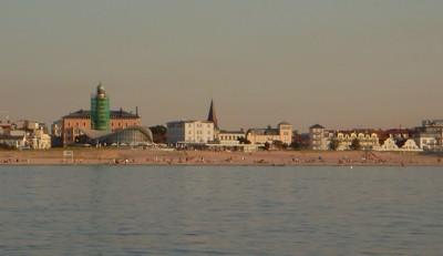 Warnemünde von der Ostsee
