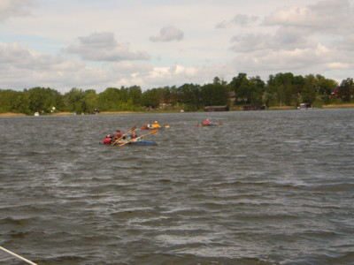 Paddler auf dem Canower See