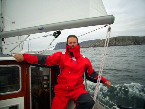 Tongji Segelyacht am Nordkap