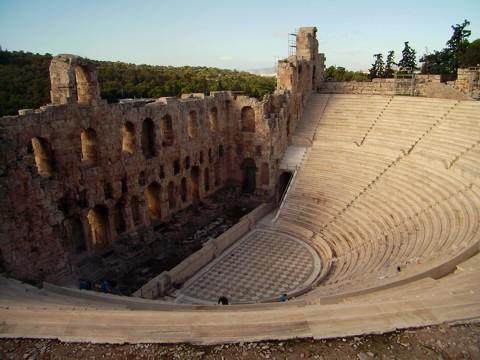 Athen Akropolis - Odeon des Herodes Atticus