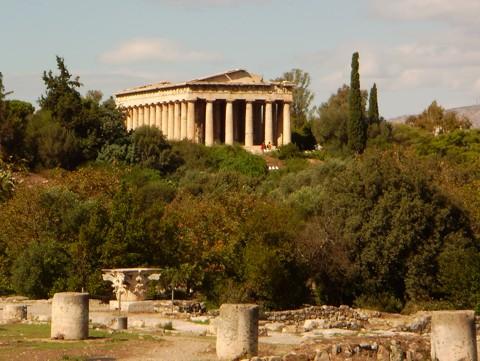 Athen - Agora mit Tempel des Hephaistos