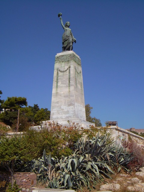 Freiheitsstatue in Mytilini