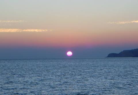 Sonnenuntergang auf Anafi