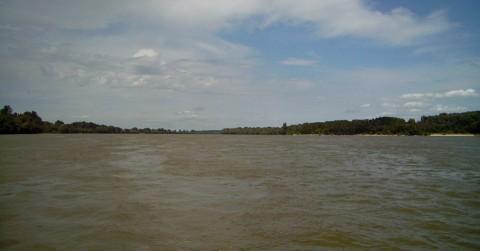 Donau - Ankern seitlich im Strom