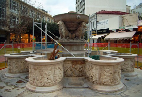 Heraklion - Morosinibrunnen / Löwenbrunnen