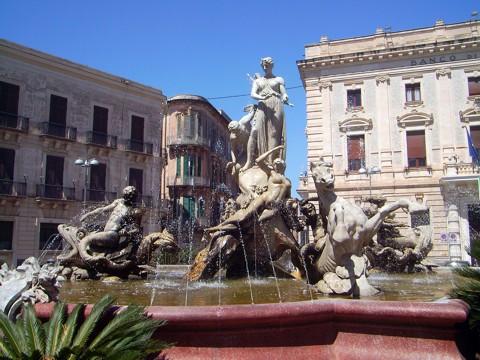 Artemisbrunnen in Syrakus