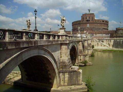 Rom - Engelsbrücke u Engelsburg