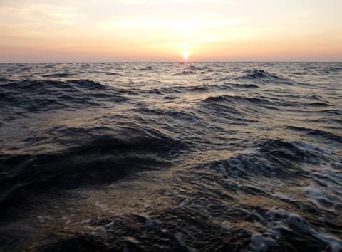 Biskaya Sonnenuntergang
