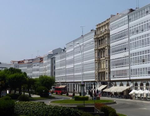 La Coruna - Galeriehäuser