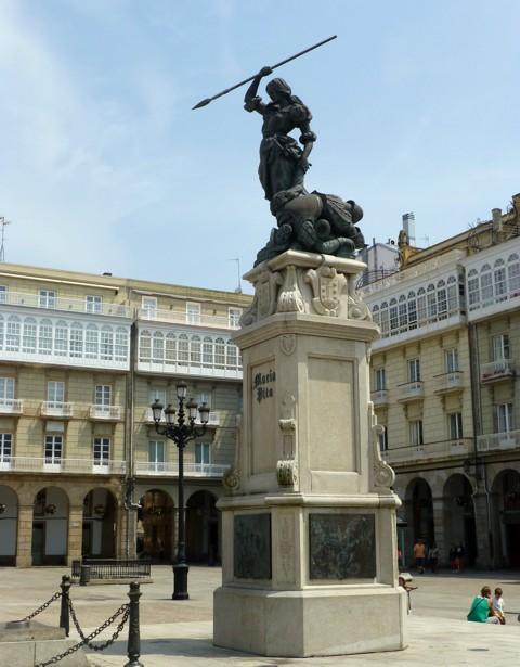 La Coruna - Statue der Maria Pita