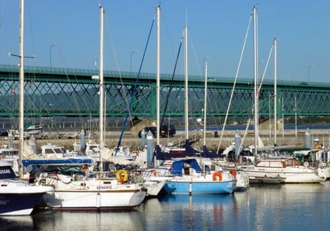 Viana do Castelo - Hafen und Eiffel-Brücke