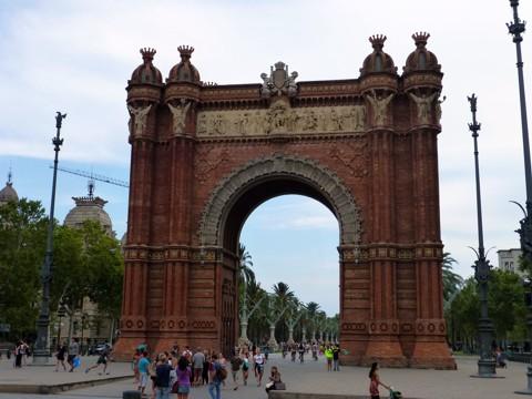 Triumphbogen in Barcelona - Arc de Triomf