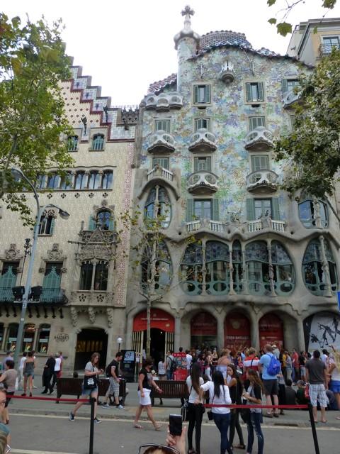 Barcelona - Planstadt Eixample - Casa Batllo