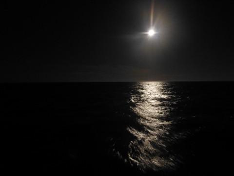 Mond und Meer