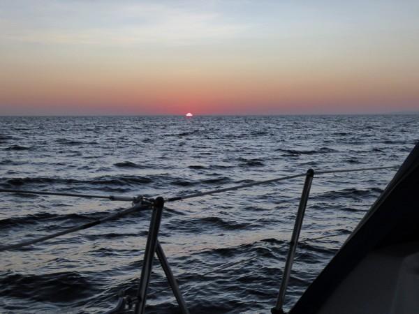 Segeln Sonnenaufgang