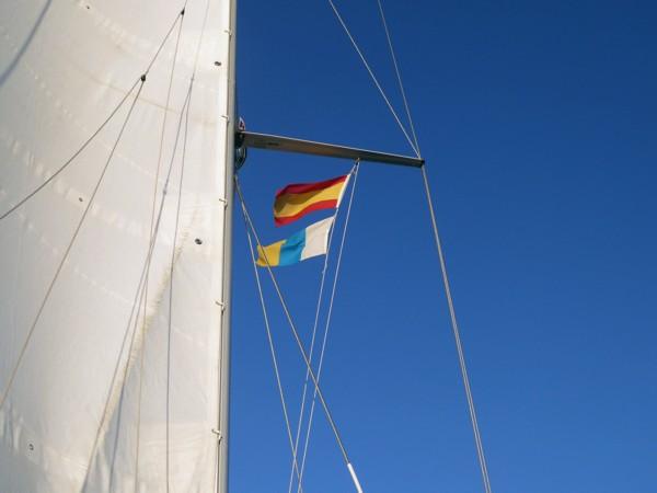 Gastlandflagge Segeln Kanaren