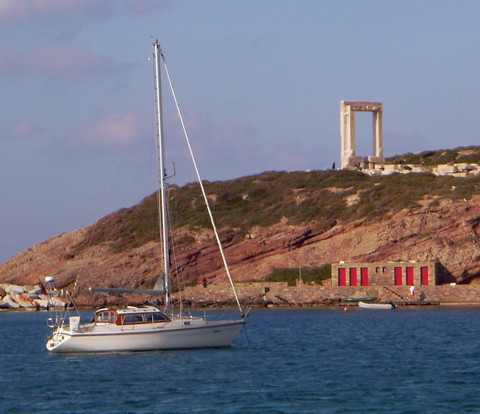 Ankern in Naxos