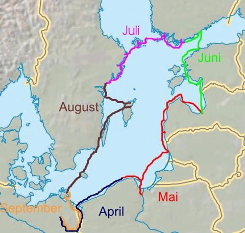 Ostseetour - Route 2008