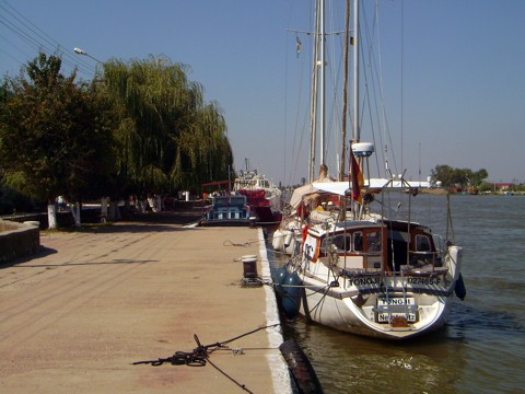 am Kai in Sulina