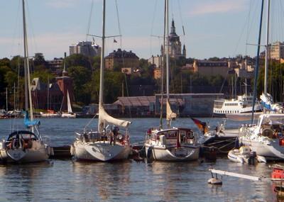 Tongji im Wasa Hafen von Stockholm