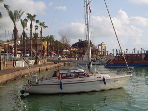 Tongji im Hafen Side, Segeln Türkei